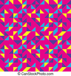 Bright Pink Pop Pattern - Seamless background