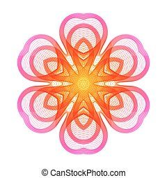 Bright Pink Stylized Flower of the Lines.