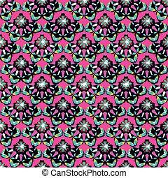 bright pink vintage seamless pattern