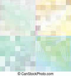 Bright Pixel Background Divided in 4