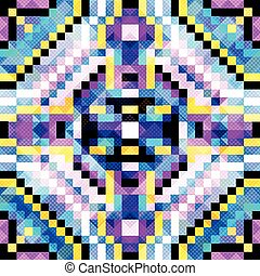 bright pixels beautiful small polygons Abstract seamless geometrical pattern