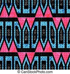 bright polygons on a dark background geometric seamless pattern