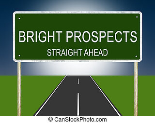 Bright Prospects Highway Sign