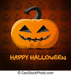 Bright pumpkin for Halloween. Created for your design. Vector