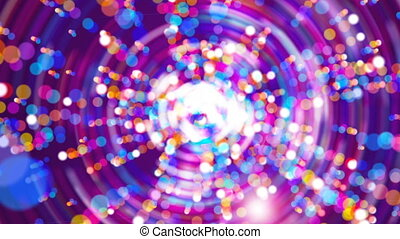 Bright purple abstract flash in the space, modern computer generated background, 3d render backdrop