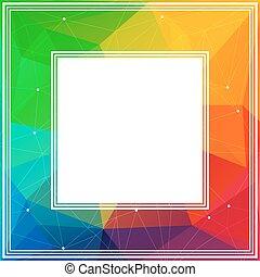 bright rainbow border