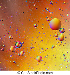 Bright rainbow bubbles abstract background. Oil and water abstract pattern.