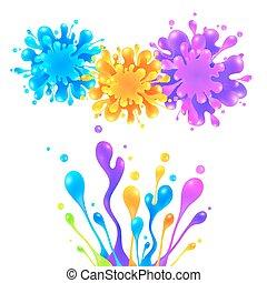 Bright rainbow colors paint splash