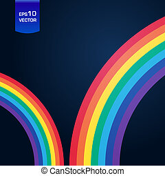 Bright rainbow illustration with space for your business...
