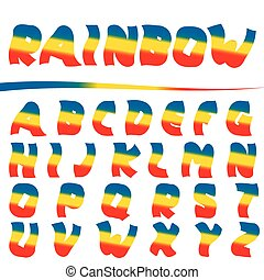 Bright Rainbow letters