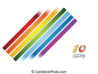 Bright rainbow stripes vector background