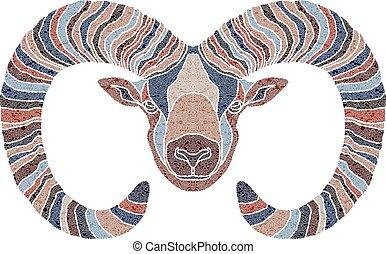 Bright Ram, zodiac Aries sign
