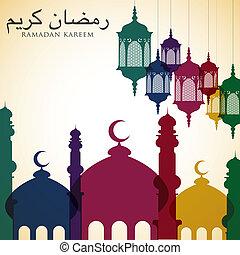 Bright Ramadan card in vector format