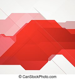 Bright red abstract tech background