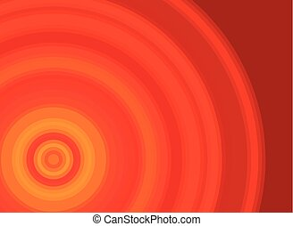 Bright red and orange vector background with a circle pattern