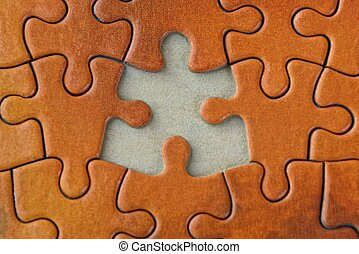 bright red brown texture of paper puzzles