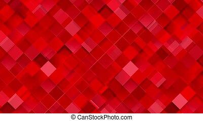 Bright red geometric squares mosaic video animation - Bright...