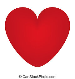 Bright red heart