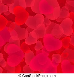 Bright red hearts background.