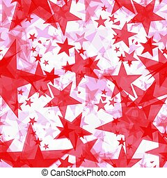 Bright red iridescent stars on a light background in the projection.