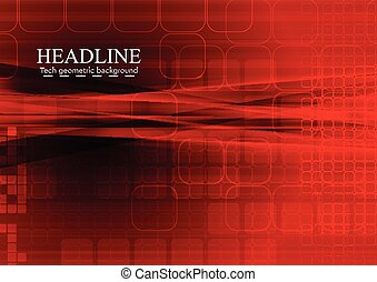 Bright red tech abstract background