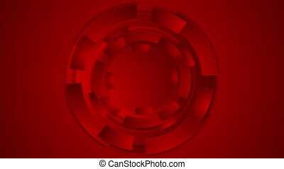 Bright red technology futuristic gears video animation