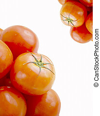 bright red tomatoes isolated on a white background - bright...