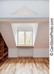 Bright room in the attic
