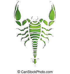 Bright scorpion, zodiac Scorpio sign