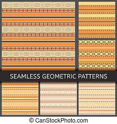 Bright seamless geometric patterns
