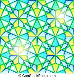 Bright seamless kaleidoscope stained glass - Bright seamless...