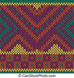Bright seamless knitted pattern in ethnic style.