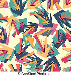 bright seamless pattern in graffiti style for your design