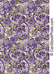 Bright seamless pattern in purple colors