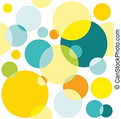 bright seamless pattern of colorful circles on white background