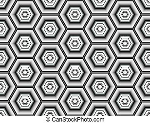 Bright seamless pattern of geometric elements with contrasting elements