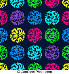 Bright seamless pattern with circles