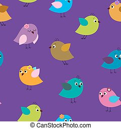 Bright seamless template with birds