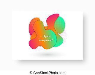 Bright shapes on a rectangular background