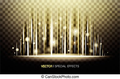 bright shining light - golden shining light with particles,...
