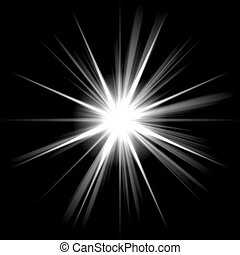 Bright Shining Star - An abstract lens flare. A highly...