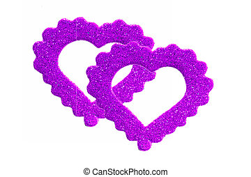 Bright shining stickers of the hearts