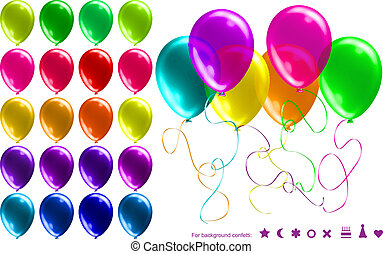 Bright Shiny Balloons Set