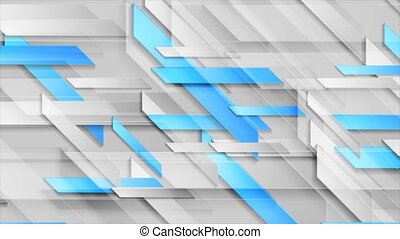 Bright shiny blue technology geometric abstract motion background