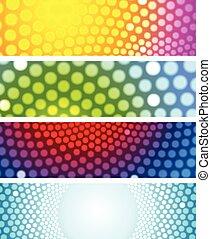 Bright shiny circles abstract banners