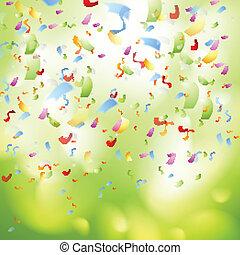 Bright shiny confetti abstract design template. Vector...
