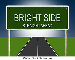Bright Side Highway Sign