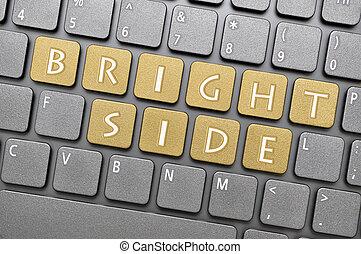 Bright side on keyboard