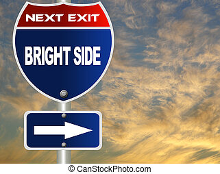 Bright side road sign