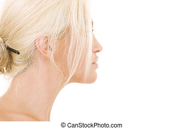 sideview - bright sideview picture of lovely blonde over ...